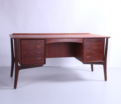 Danish Teak Desk by Svend Aage Madsen for HP Hansen, 1960s