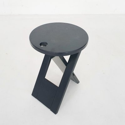 Dark blue 'Suzy' folding stool by Adrian Reed for Princes design works, U.K. 1980's