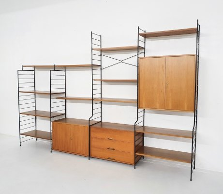 Teak & metal wall unit by WHB, Germany 1950's