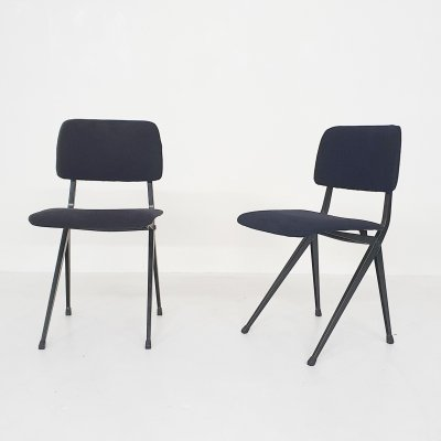 Set of 2 Ynske Kooistra for Marko dining chairs, The Netherlands 1950's