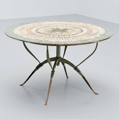 Raymond Subes for Maison Dominique Art deco dining table, France 1930