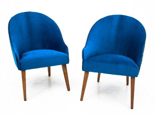 Pair of club armchairs, Poland 1960s