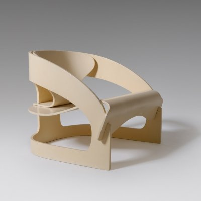 Joe Colombo mod. 4801 Plywood armchair, Italy 1965