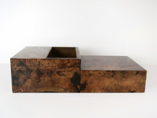 Large Goatskin Coffee Table by Aldo Tura, Italy 1960's