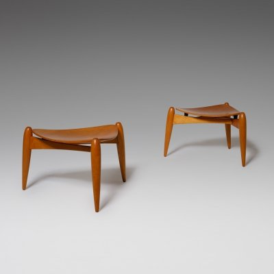 Pair of Large 'Tale' stools by Ilmari Tapiovaara, 1950s