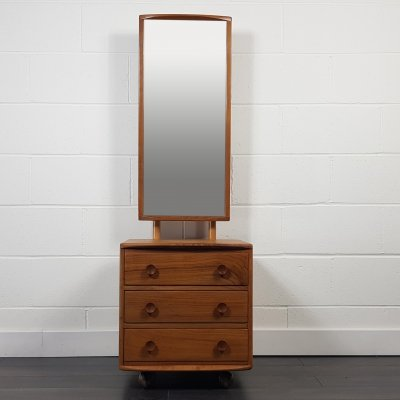Ercol Cheval Mirror with 3 Drawers, 1960s