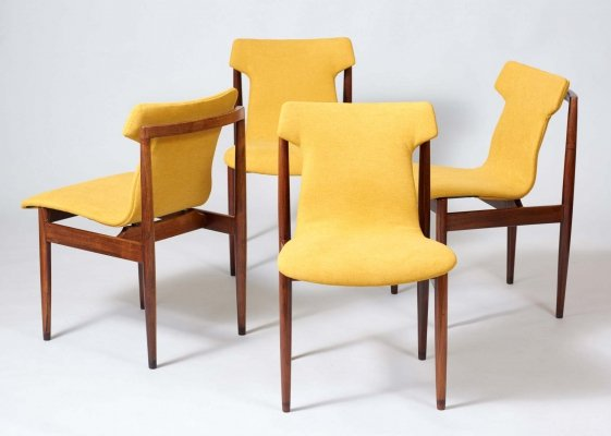Set of 4 IK dining chairs by Inger Klingenberg for Fristho, 1960s