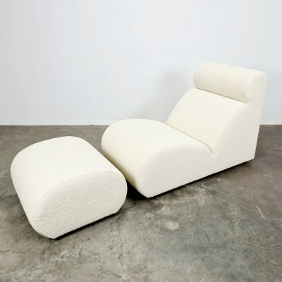 Bobo easy chair with ottoman by Cini Boeri, 1960s