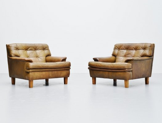 Arne Norell Merkur lounge chairs for AB Sweden, 1960