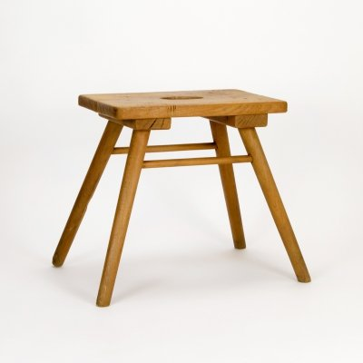 Rustic French Brewer's Stool, 1930s
