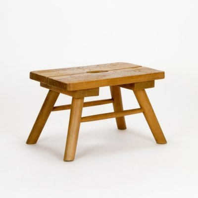 Small Rustic French Brewer's Stool