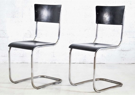 Pair of Thonet S43 chairs by Mart Stam, 1960s