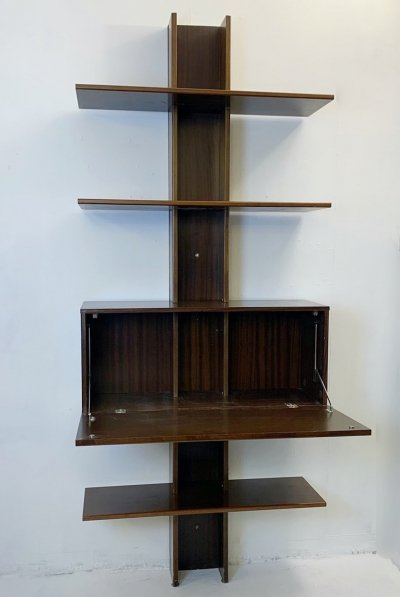 Italian Bookcase in Teak, Circa 1960