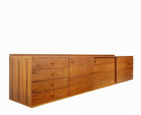 Blond Rosewood Floating Sideboard, 1970s
