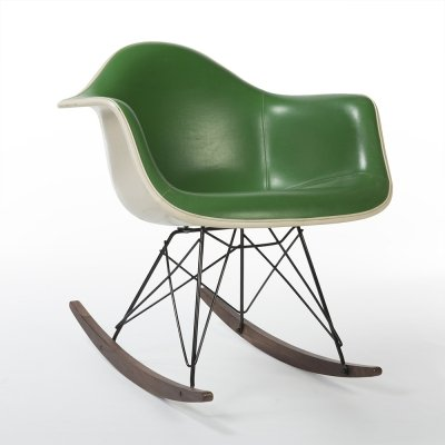Light Green Herman Miller Original Vintage Eames RAR Rocking Arm Chair