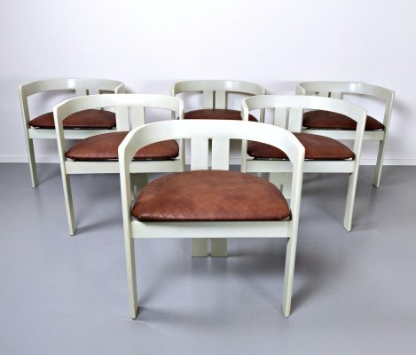 Set of 6 'Pigreco' Chairs by Tobia Scarpa, 1950s