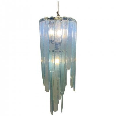 Opalescent Murano Glass 'Cascade' Chandelier by Carlo Nason