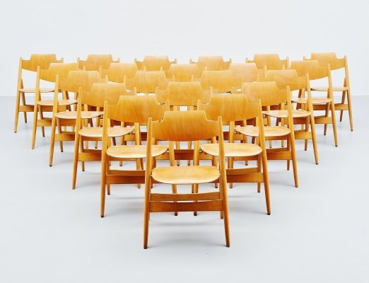 Egon Eiermann SE18 folding chairs by Wilde & Spieth, 1952