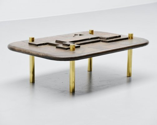 Marcus Kingma artwork coffee table, Holland 1993