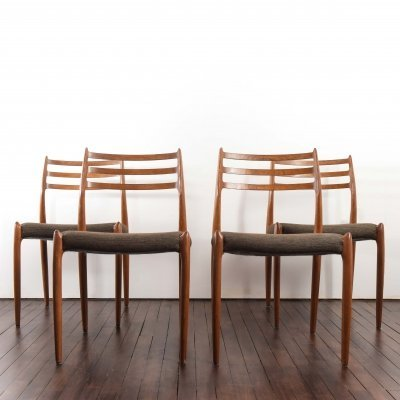 Set of 4 Niels Moller model 78 chairs in teak, 1960s