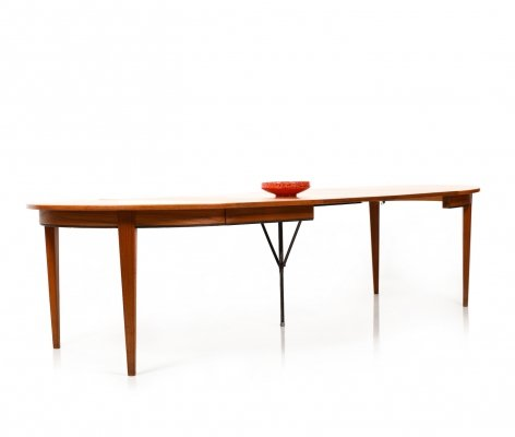 Danish Modern Teak Dining Table Model No.55 by Omann Jun, 1960s