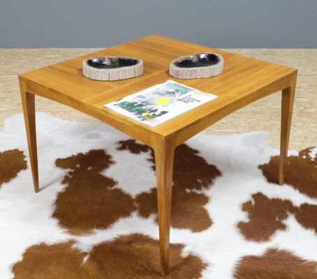 Mahogany Coffee table by Hartmut Lohmeyer for Wilkhahn, 1960s