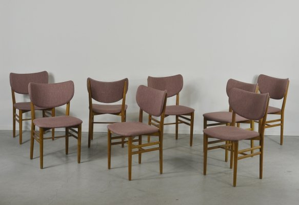 Set of 8 chairs by Eva & Nils Koppel for Slagelse Mobelvaerk, 1960's