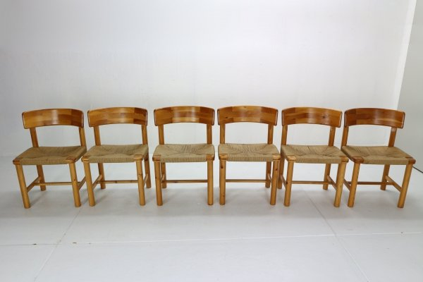 Set of 6 Dining Room Chairs by Rainer Daumiller for Hirtshals Sawmill, Denmark 1970