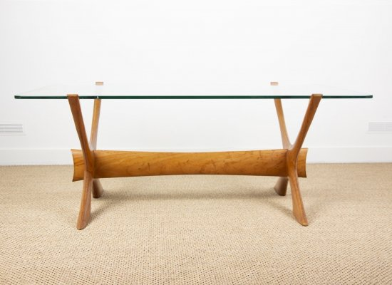Large Danish Coffee Table by Illum Wikkelsø, 1960s