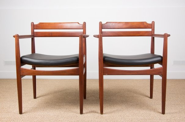 Pair of Danish armchairs by Poul Volther, 1960s