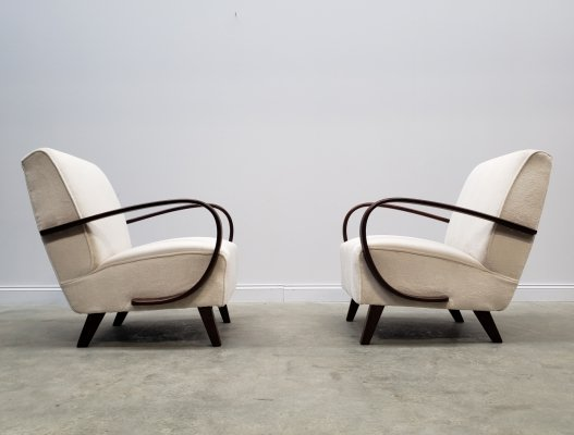 Pair of Jindrich Halabala Bentwood Armchairs, 1930s