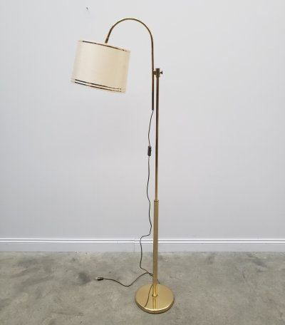 Adjustable Brass Floor Lamp, 1970's