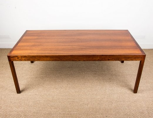 Large Danish Rio Rosewood Coffee Table by Hans Wegner for Andreas Tuck