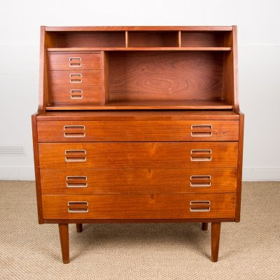Functional Danish Secretaire in Teak, 1960s