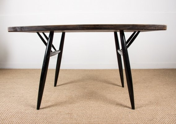 Finnish Dining Table by Ilmari Tapiovaraa for Laukaan Puu, 1970s