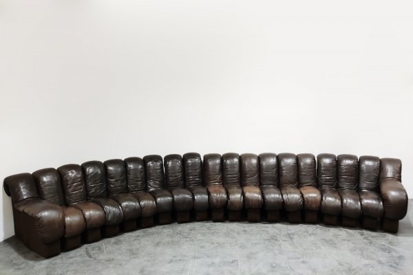 De Sede DS600 sofa in brown leather, 1970s