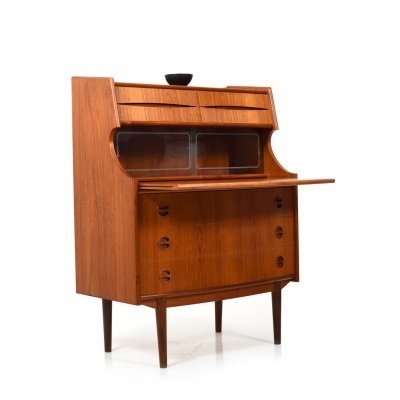 Mid Century Danish Teak Secretary with curved Front