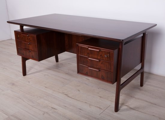 Mid-Century Rosewood Model 75 Desk from Omann Jun, 1960s