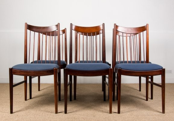 Set of 6 Danish Rio Rosewood Dining Chairs by Arne Vodder for Sibast