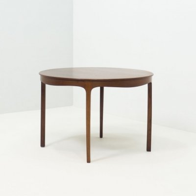 A.J. Iversen rosewood coffee table by Ole Wanscher, 1950s