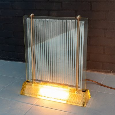 Art Deco glass table heater by Rene-Andre Coulon for Saint-Gobain, 1937