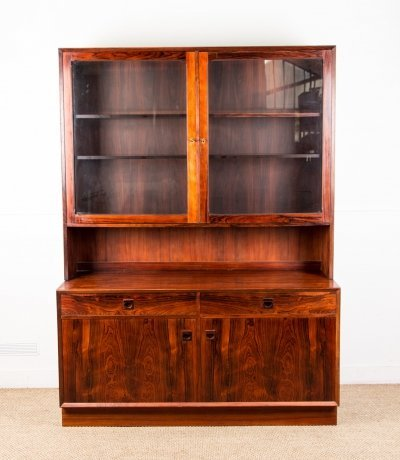 Danish Brazilian Rosewood 2-Part Buffet by Erik Brouer for Brouer Møbelfabrik