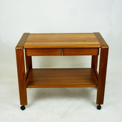 Scandinavian Modern Teak Serving Trolley / Bar Cart