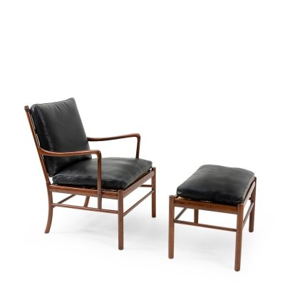 Colonial Lounge Chair & Ottoman by Ole Wanscher