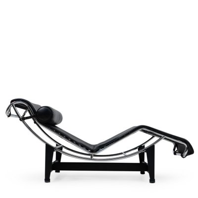 Black Leather LC4 by Le Corbusier for Cassina, 1980s