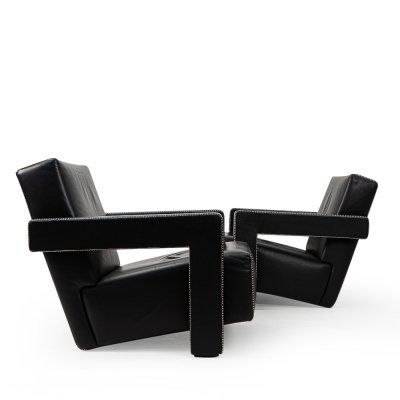 Pair of Gerrit Rietveld Utrecht Armchairs by Cassina, 1990s