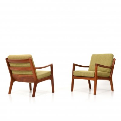 Pair of Senator Teak Easy chairs by Ole Wanscher