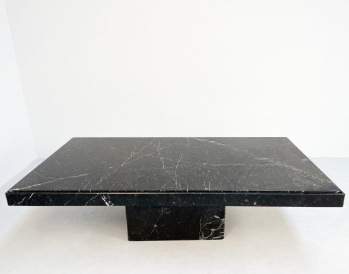 Black marble coffee table, 1980s