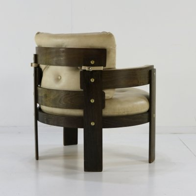 German design plywood easy chair, 1970s