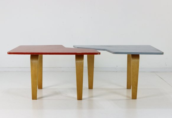Pair of TB14 coffee tables by Cees Braakman for Pastoe, 1950s